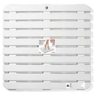 Tarima antideslizante ducha 54 x 54 blanca