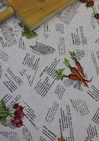 Mantel antimanchas impermeable zurbarán detalle