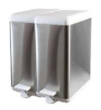 Cubo de basura de acero modular 2