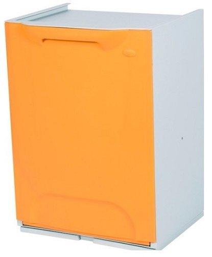 Cubo de reciclaje duett naranja