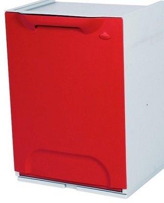 Cubo de reciclaje duett rojo