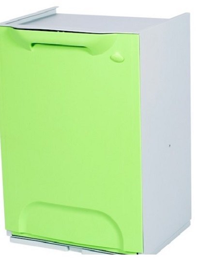 Cubo de reciclaje duett verde