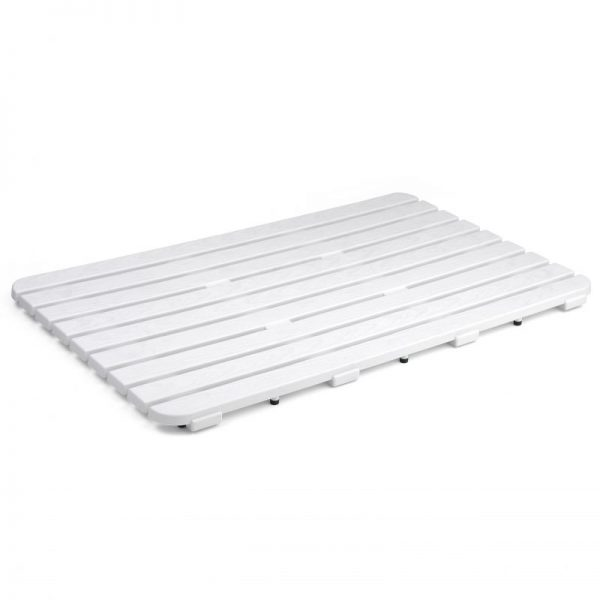Tarima antideslizante de ducha 50 x 80. Blanca1