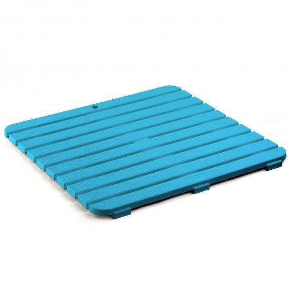 Tarima antideslizante de ducha 55 x 55 azul