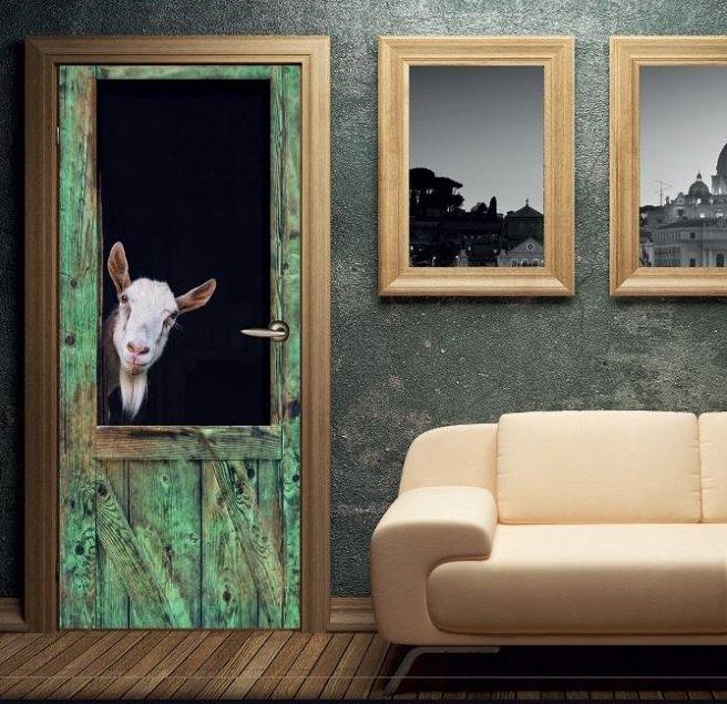 Vinilos decorativos adhesivos para neveras y puertas - Puertas de vinilo ...