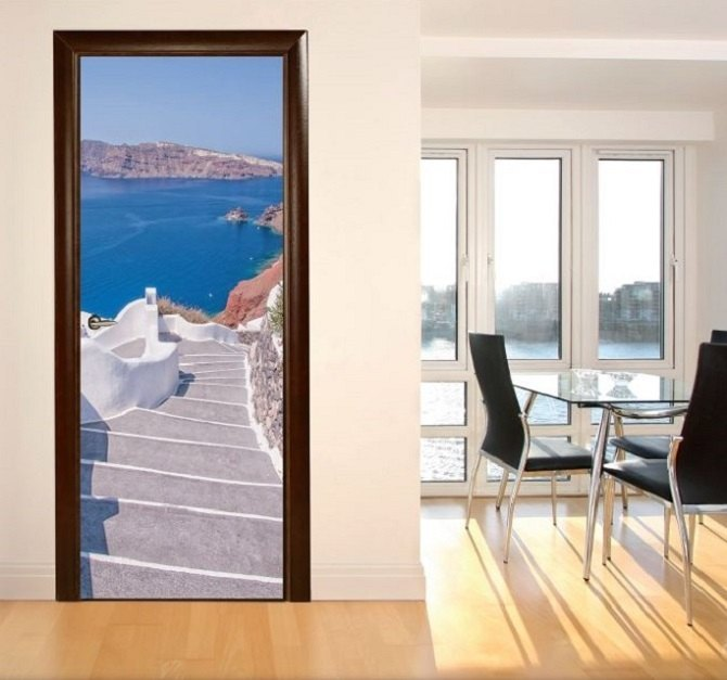 Vinilos decorativos adhesivos para puertas - Vinilo para puerta ...
