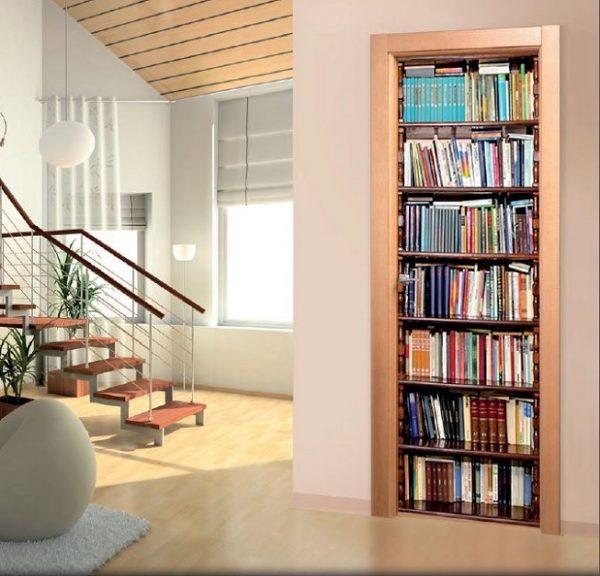 Vinilo decorativo adhesivo para puertas Libros