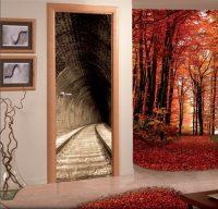 Vinilo decorativo adhesivo para puertas Túnel