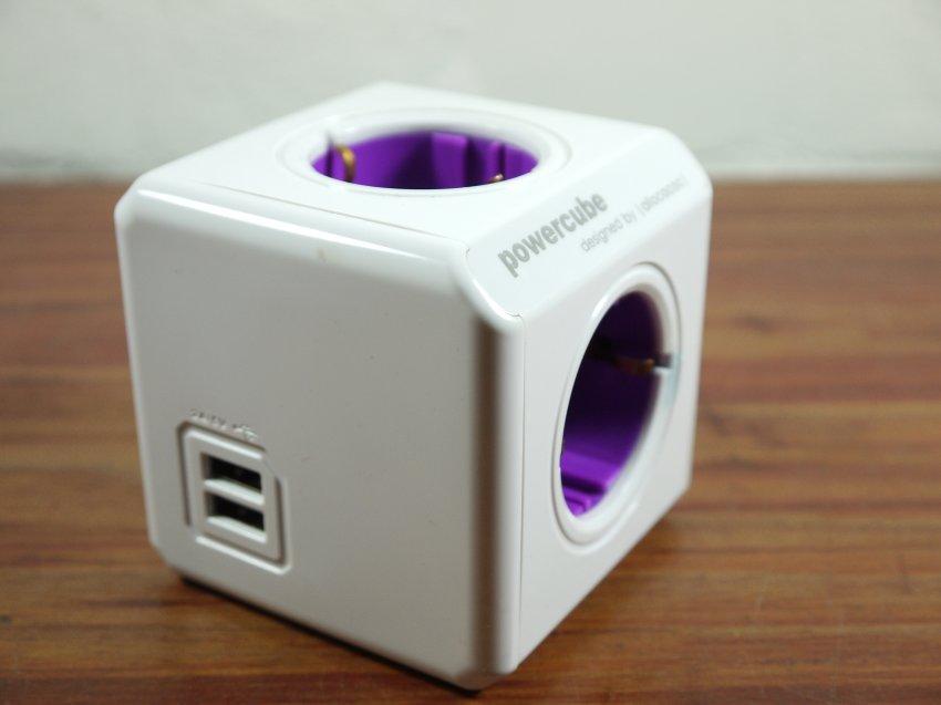 Powercube 4 tomas más dos USB