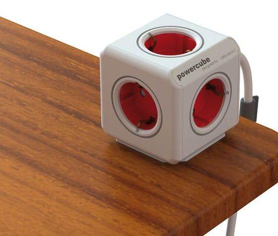 Powercube 5 tomas con prolongador