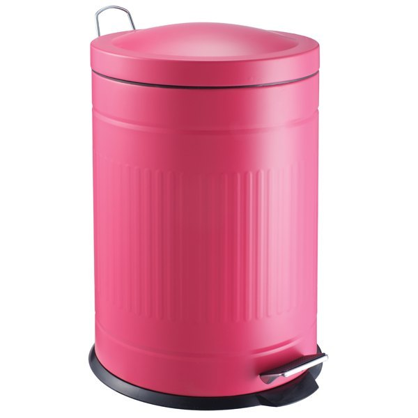 cubo pedal retro rosa