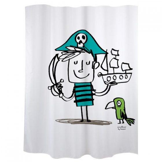 Cortina de baño Pirata-Mas Masia- cortinas baño