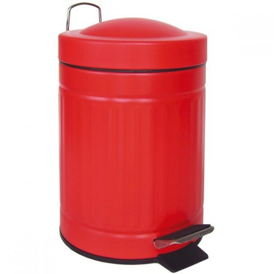 cubo pedal retro rojo