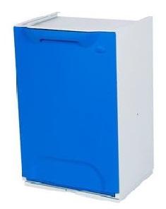 Cubo de reciclaje duett azul