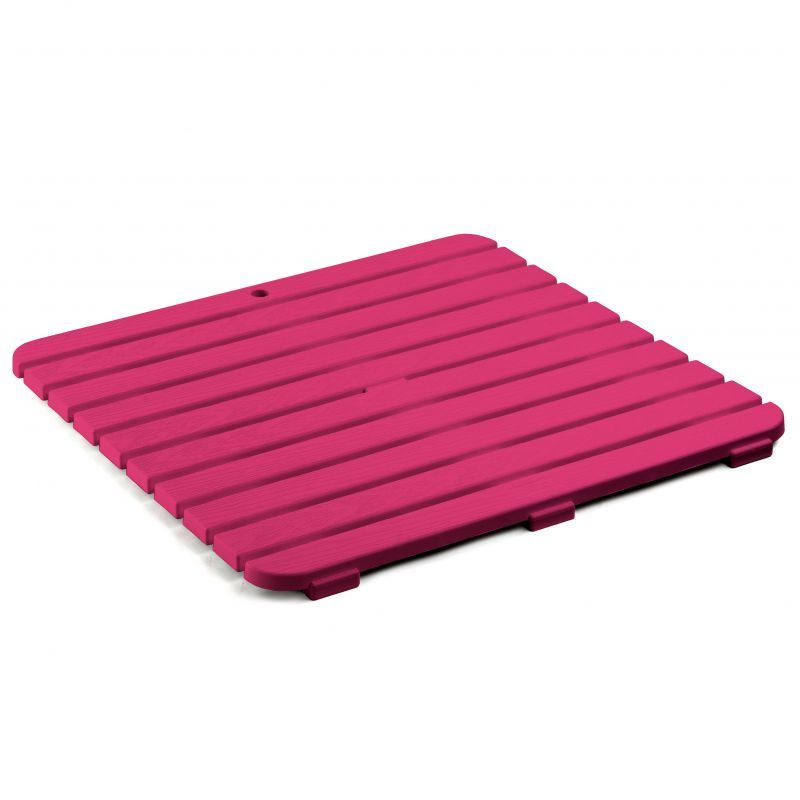 Tarima antideslizante de ducha 55 x 55 rosa