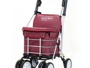 Carro Carlett lett800, carro-asiento-andador con respaldo rojo - Mas Masia carros